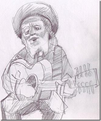 Old folk entertainer in Santa Fe